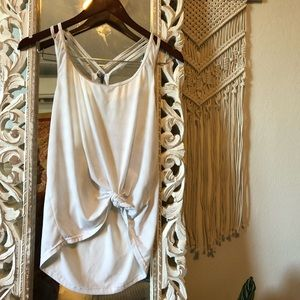 Forever 21 White Workout Tank S